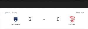 Hasil Ligue 1 Bordeaux Vs Nimes
