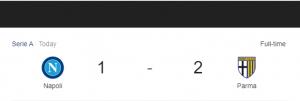 Hasil Serie A Napoli vs Parma