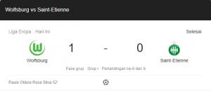 hasil wolfsburg saint-etienne 1-0