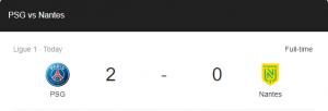 Hasil Ligue 1 PSG vs Nantes